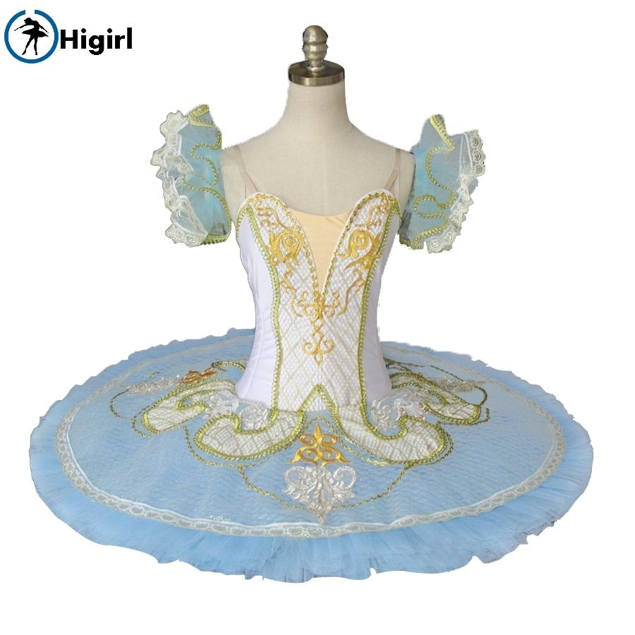 Blue nutcracker tutu blue professional tutu girls ballet costumes blue bird pancake tutu ballet stage costumes BT9097B