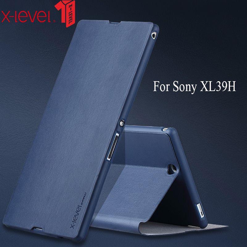 XLevel étui en cuir pour Sony Xperia Z Ultra XL39H marque téléphone housse arrière Ultra mince support étui pour téléphone d'affaires
