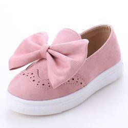 Automne Grandes Filles Chaussures De Mode Princesse Slip-sur Enfants Sneaker Chaussures Velet Papillon Noeud Pour Les Filles Chaussures Taille 26-30 MU913230