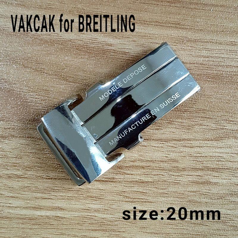 ААА роскошные часы высокого качества Серебряные часы из нержавеющей стали застежка Оригинальная застежка подходит для Breitling Часы