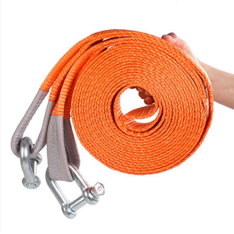 Professional Heavy Duty Self-Rescue Car Tow Rope Strap Belt Nylon Strong Hook Towing Cable Trailer 5M 5Tons High Strenght