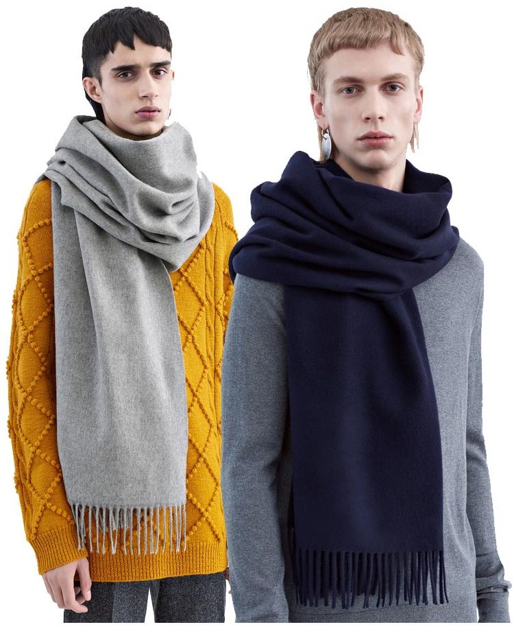 2016 winter style women men Scarves famous brand Unisex Tassel warm thick Scarves Unisex Pashmina Scarves for women grey navy