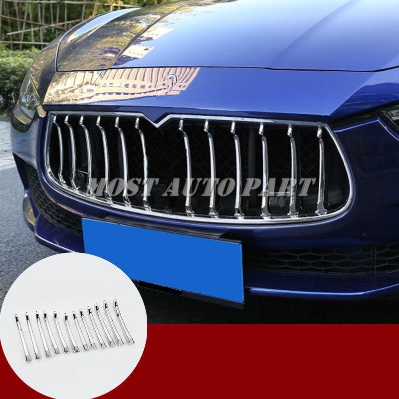 ABS Chrom Center Grille Grid Molding Trim Abdeckung Für Maserati Ghibli 2014-2017