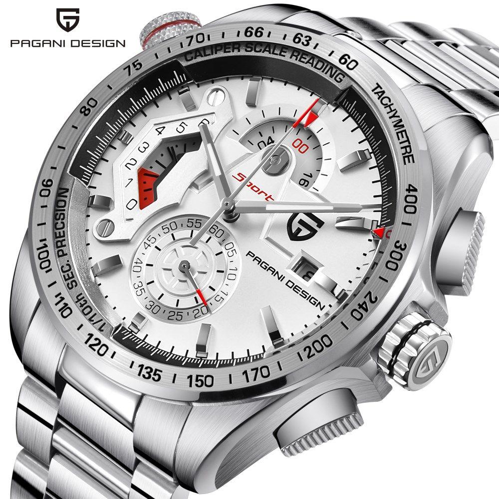 Brand PAGANI DESIGN Watches Men Luxury Waterproof Sport Quartz Chronograph Watch Military Wrist Watch Clock Relogio Masculino
