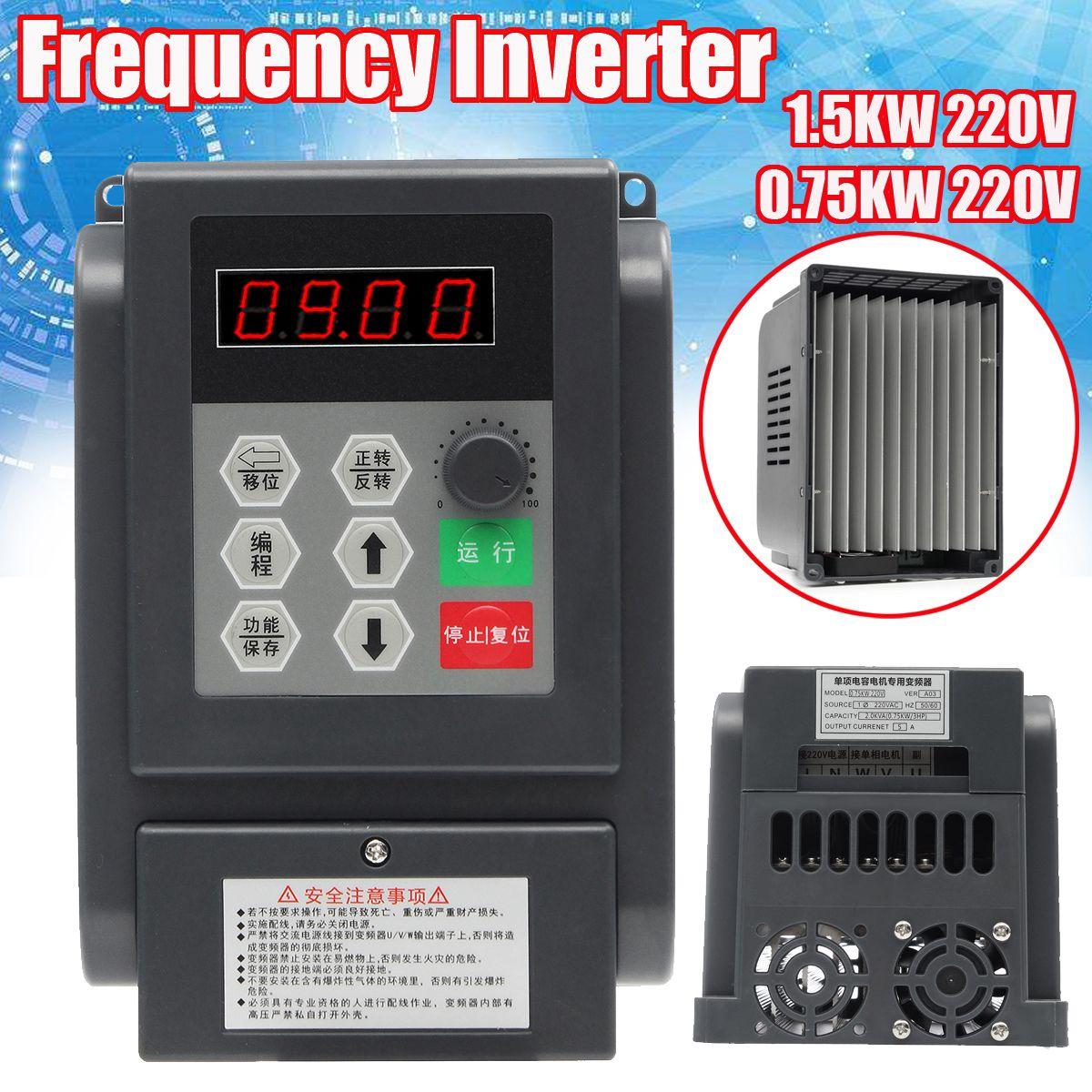 0,75/1.5KW 220 v Einphasig Motor VFD Variable Frequency Inverter Konverter Controller Stick Inverter