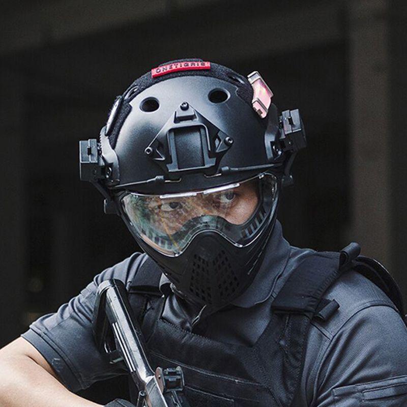 OneTigris Taktische Integrierte Helm F22 mit Abnehmbare Gesicht Maske und Brille