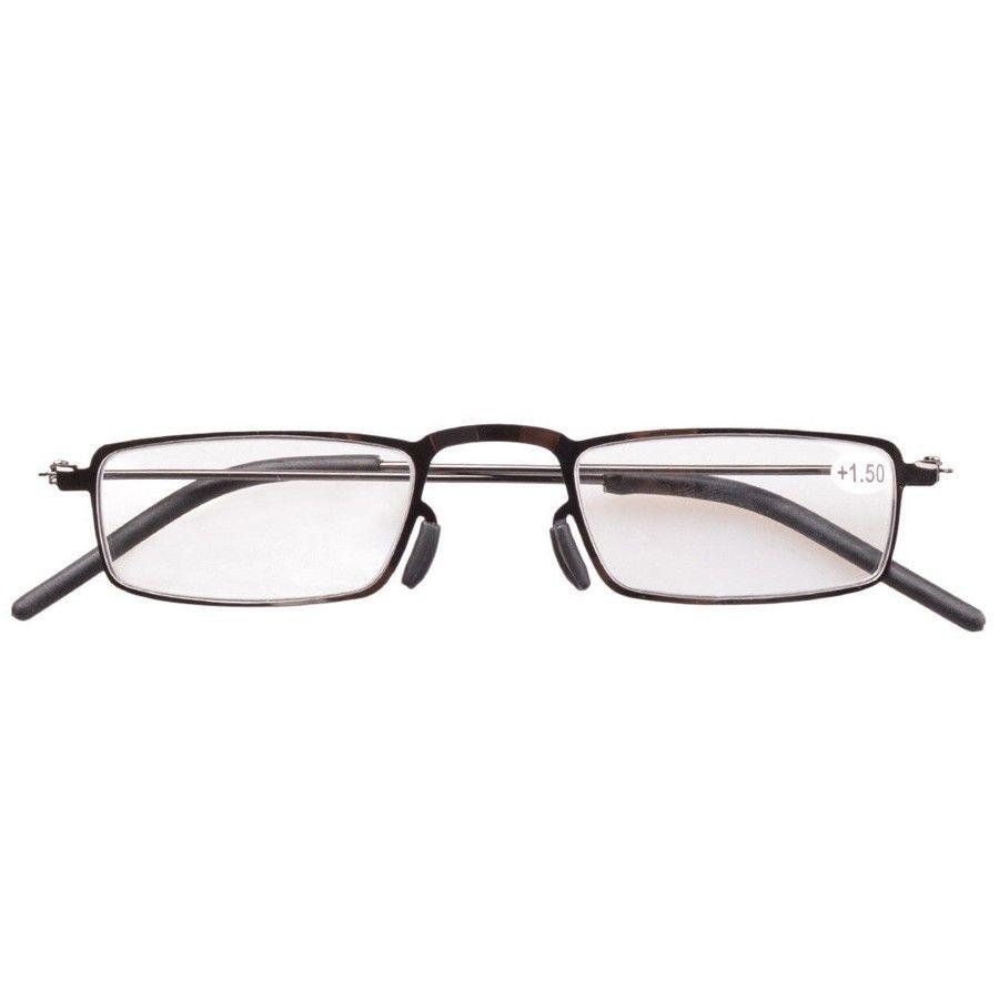 5-Pack Stainless Steel Frame Half-eye Style Reading Glasses Readers +1.00---+4.00 KF218-234