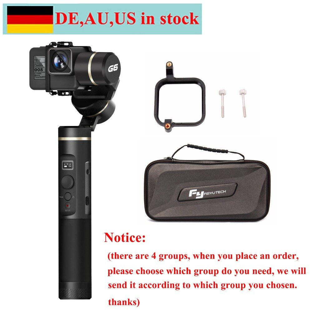 FeiyuTech Feiyu G6 Gimbal for Action Camera Update Version of G5 Wifi + Blue Tooth OLED Screen Elevation Angle for Hero 6 5 RX0