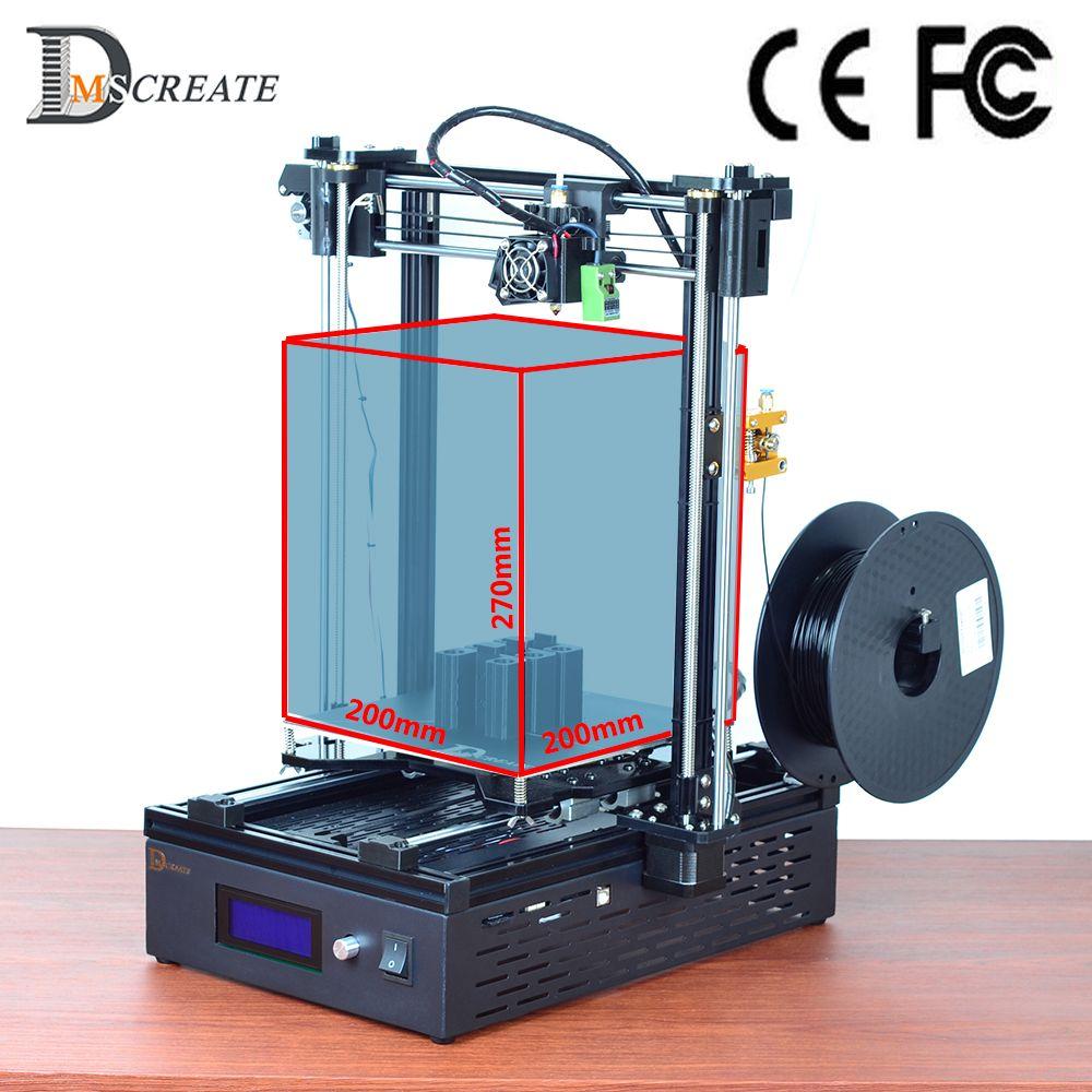 DMSCREATE DMS DP5 200*200*270mm big size High Quality 3D Printer kit,10 Min Install,Highest performance price ratio