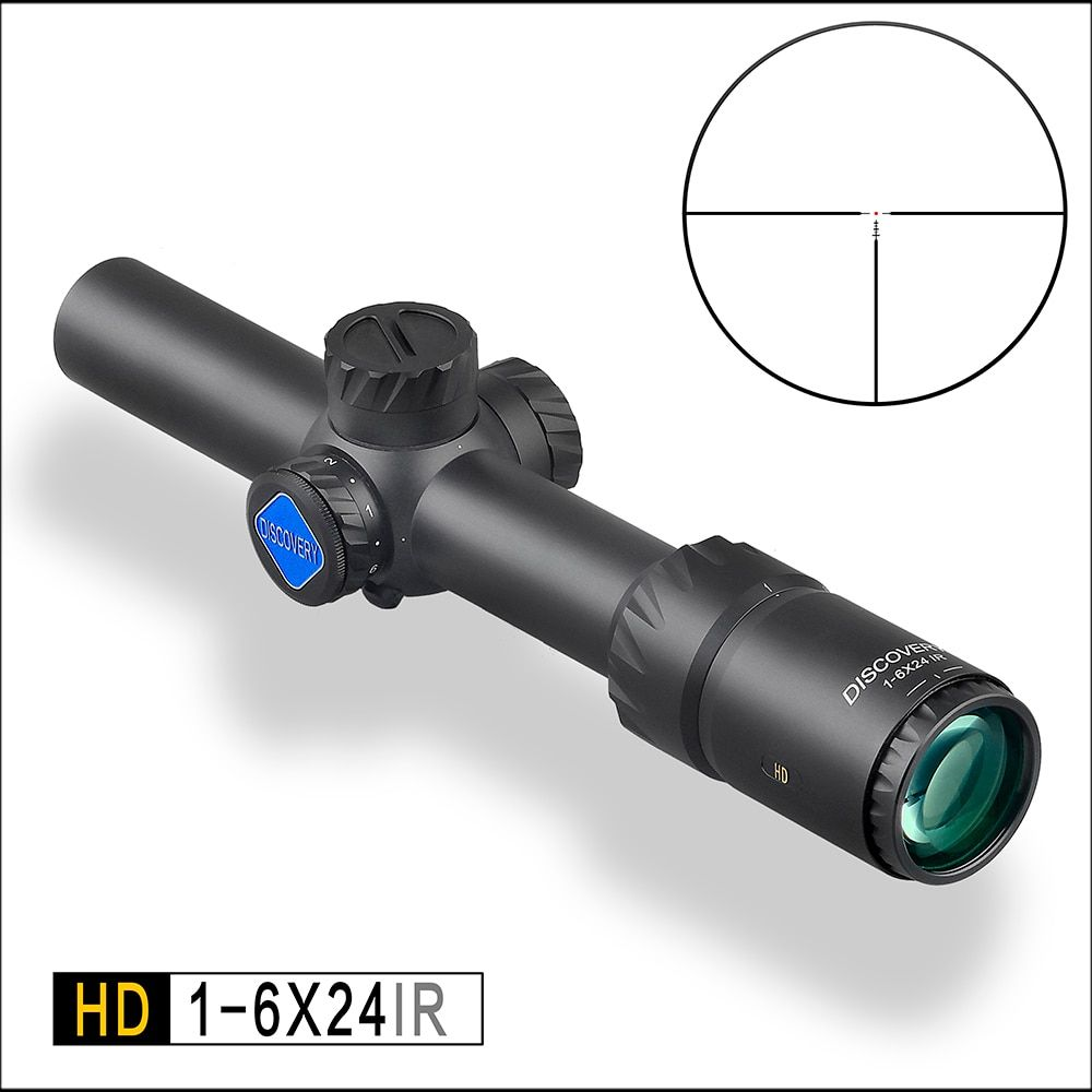 Discoverer outdoor optical air rifle sight HD 1-6X24IR short aim fast sight fixed double sniper mirror tactical scope