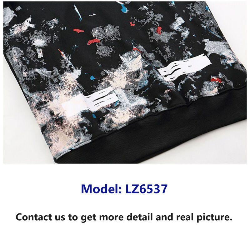Mens Hoodie Kangaroo Pocket Trend Fashion Hoodie Off White Style Hoodie Brand Starry Sky Fireworks Streetwear Hoodies