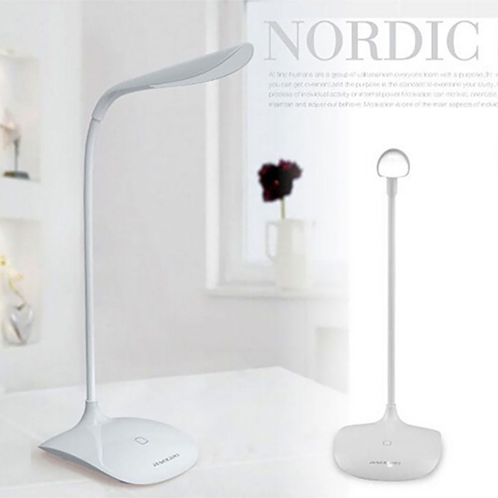 Big Sale Modern LED Eye Protection Desk Lamp Light Table Lamps 3-level Dimmer Free Bent Foldable USB Rechargeable Reading Lamp