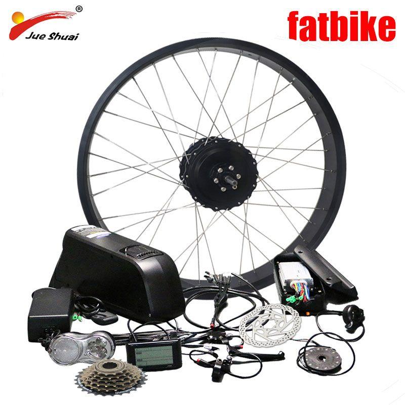 Freies verschiffen 48 V 1000 W Elektrische Bike Kit für 26*4,0 Fahrrad Rad Hinten Hub Rad Motor Leistungsstarke fett Reifen Fahrrad Schnee Bike