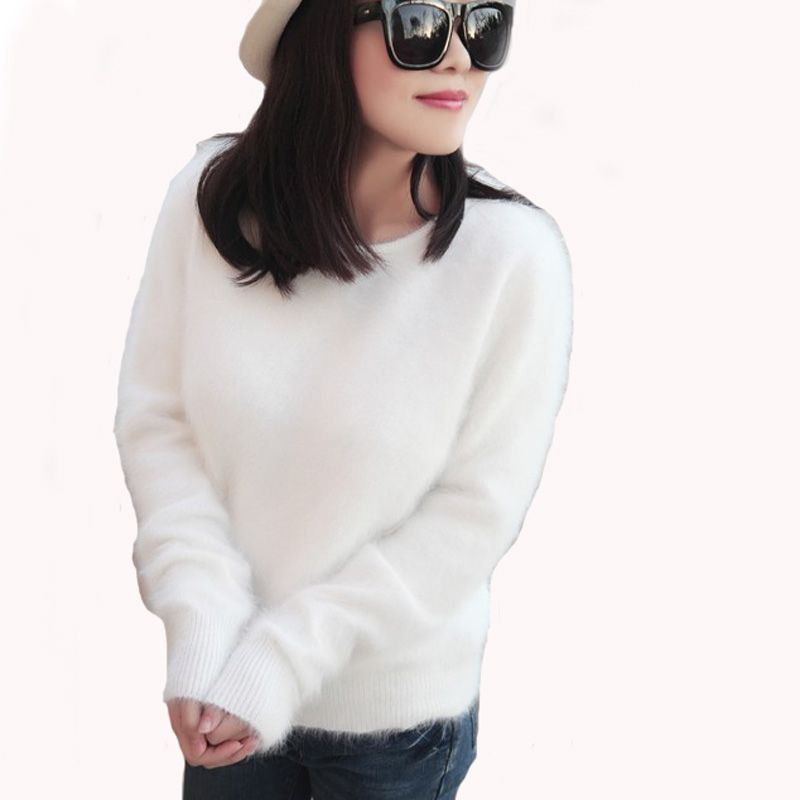 mink cashmere sweater women cashmere pullovers knitted pure mink Customized color free shippingM1111