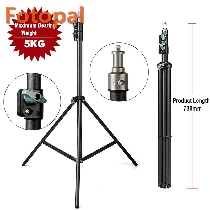 FotoPal 2M Light Stand Tripod With 1/4 Screw <font><b>Head</b></font> Bearing Weight 5KG For Studio Softbox Flash Umbrellas Reflector Lighting