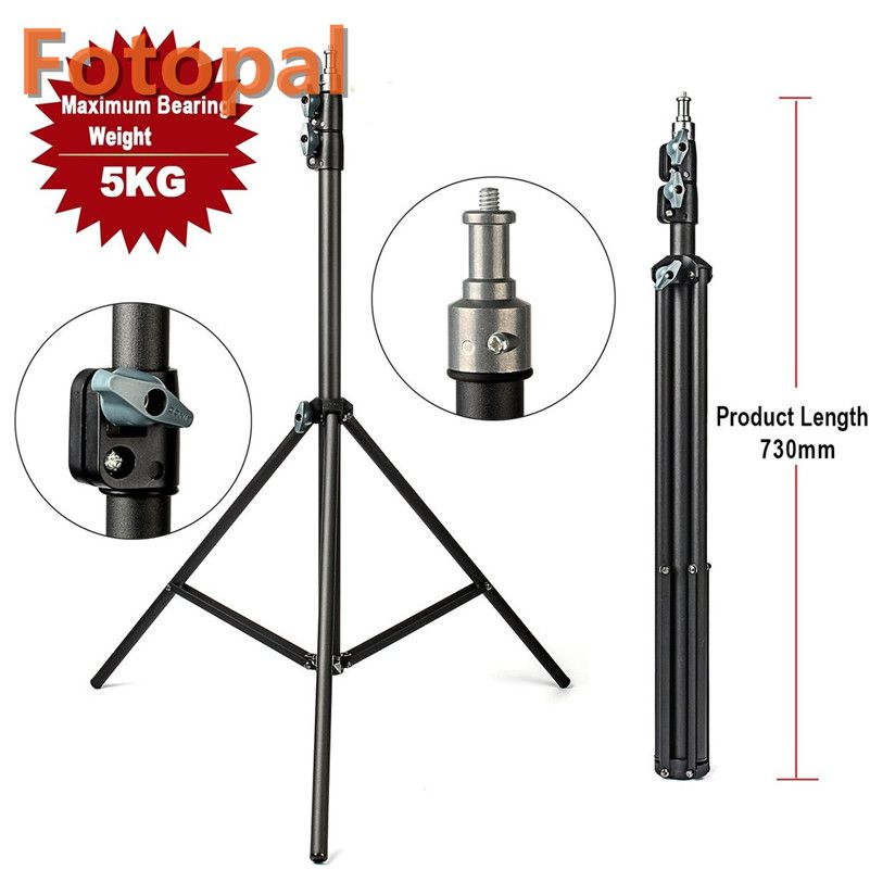 FotoPal 2M Light Stand <font><b>Tripod</b></font> Video With 1/4 Screw Head Bearing Weight 5KG For Camera Studio Softbox Flash Reflector Lighting