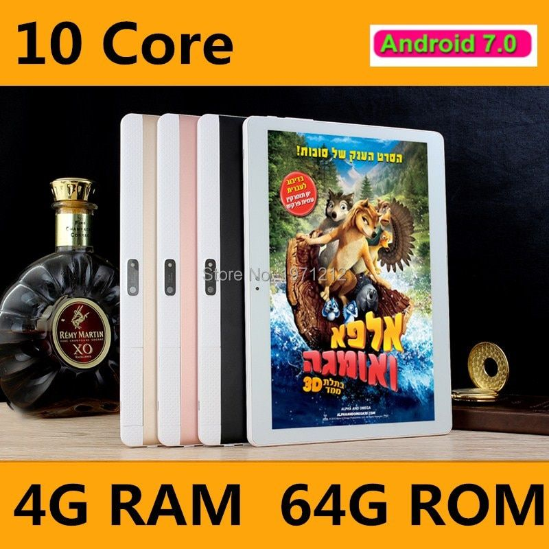Neueste 10 zoll tablet PC 10 core Android 7.0 anruf 4G LTE RAM 4 GB ROM 64 GB 1920x1200 IPS tabletten smartphone computer MT6797