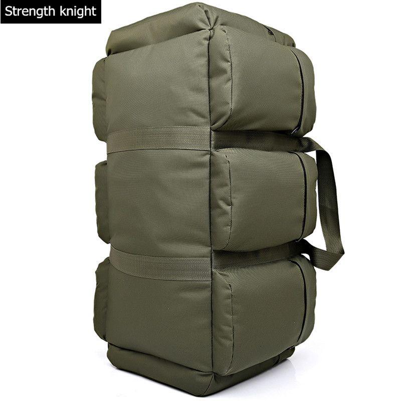90L Große Kapazität männer Military Tactics Rucksack Multifunktions Wasserdichte Oxford Wanderung Camp Rucksäcke verschleißfesten Reisetasche