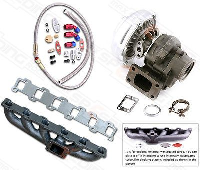 TURBO Manifold Turbocharger KIT For Nissan Safari Patrol 4.2L TD42 GQ GU Y60 T3 T4 T3T4 TO4E .63 A/R Oil Line Turbocompresor