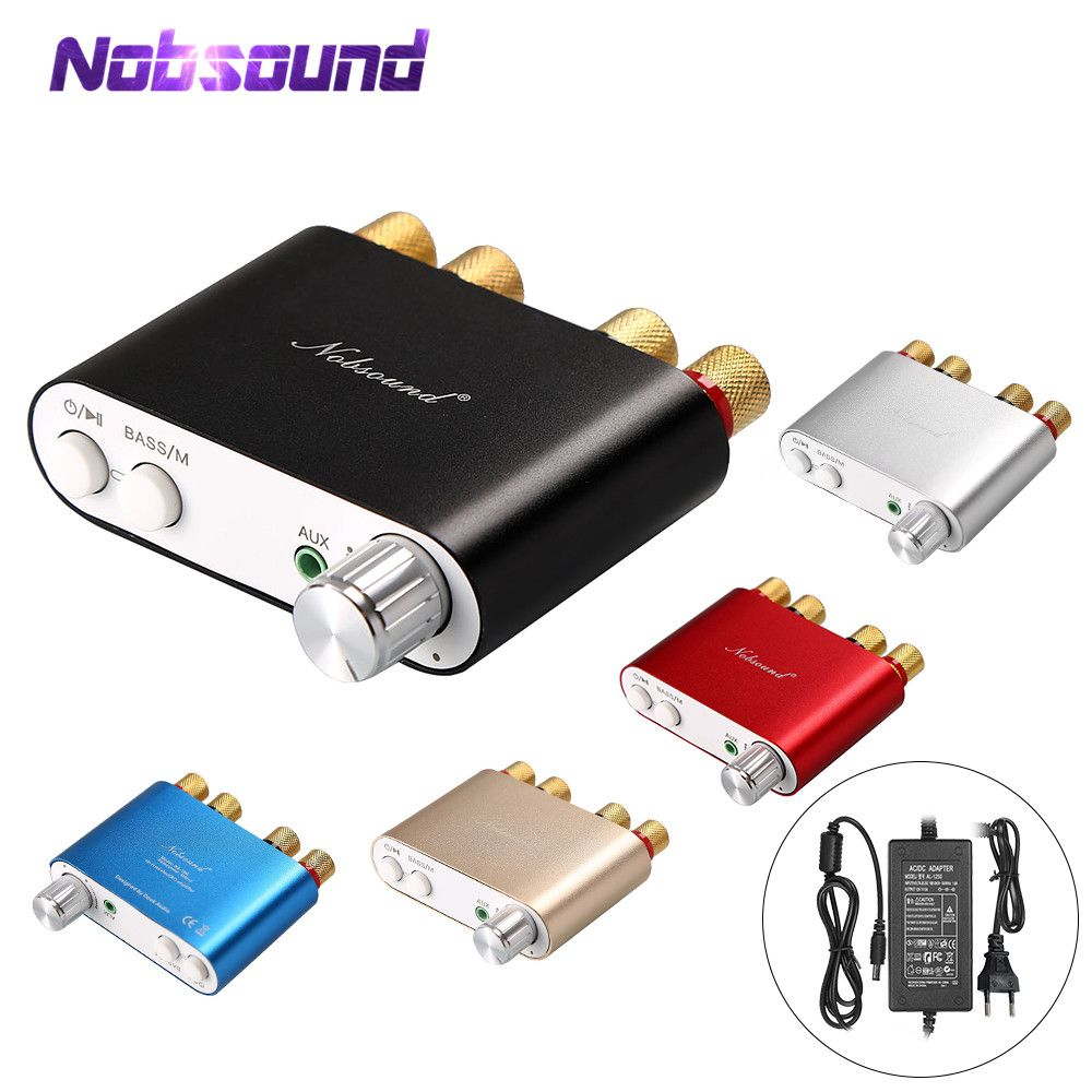 2018 Lastest Nobsound HiFi 100W TPA3116 Mini Bluetooth 4.0 Digital Amplifier Amp Home Audio With Power Supply FREE SHIPPING