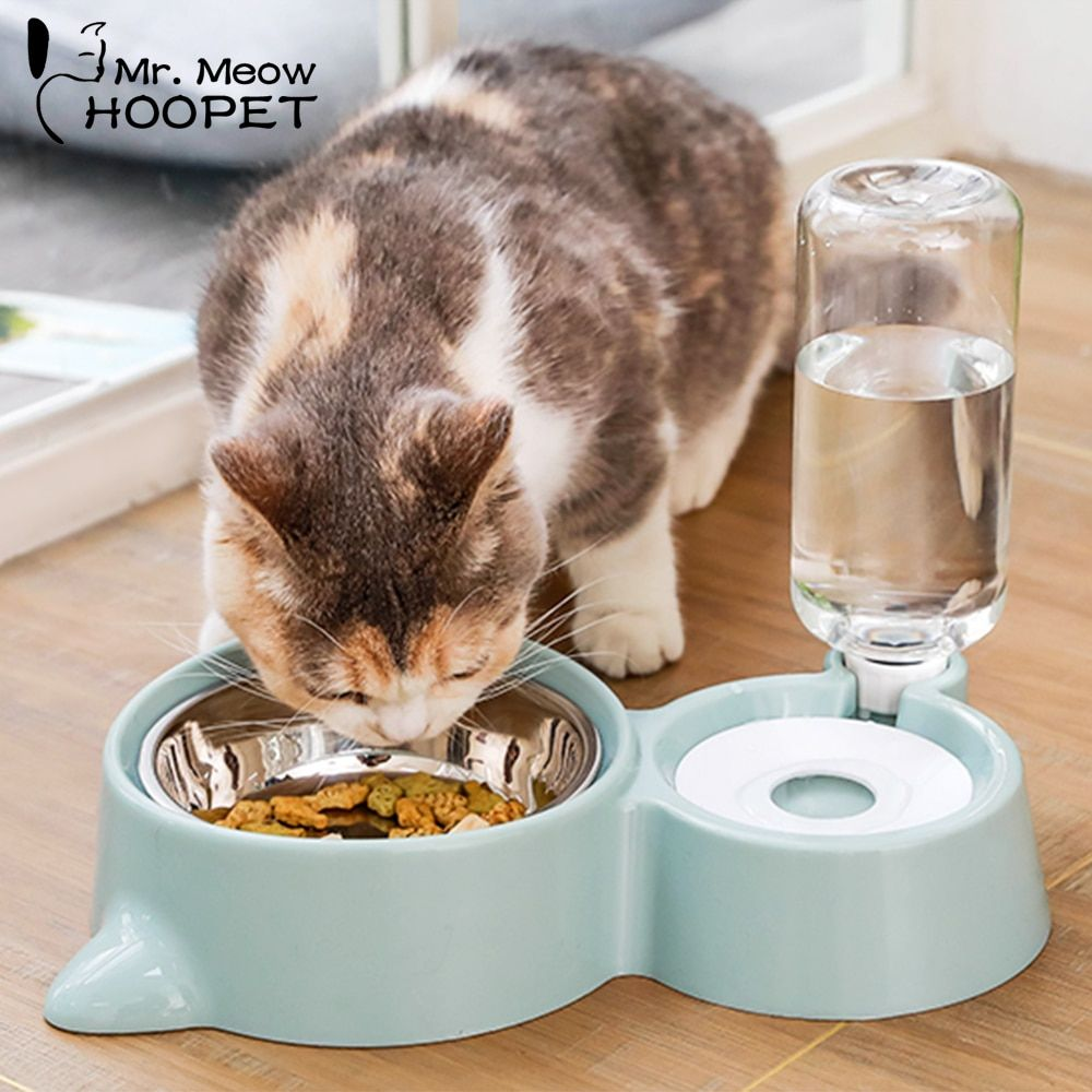 Hoopet bol pour chat distributeur d'eau pour chien bol chat chaton fontaine à boire plat alimentaire bol pour animaux marchandises