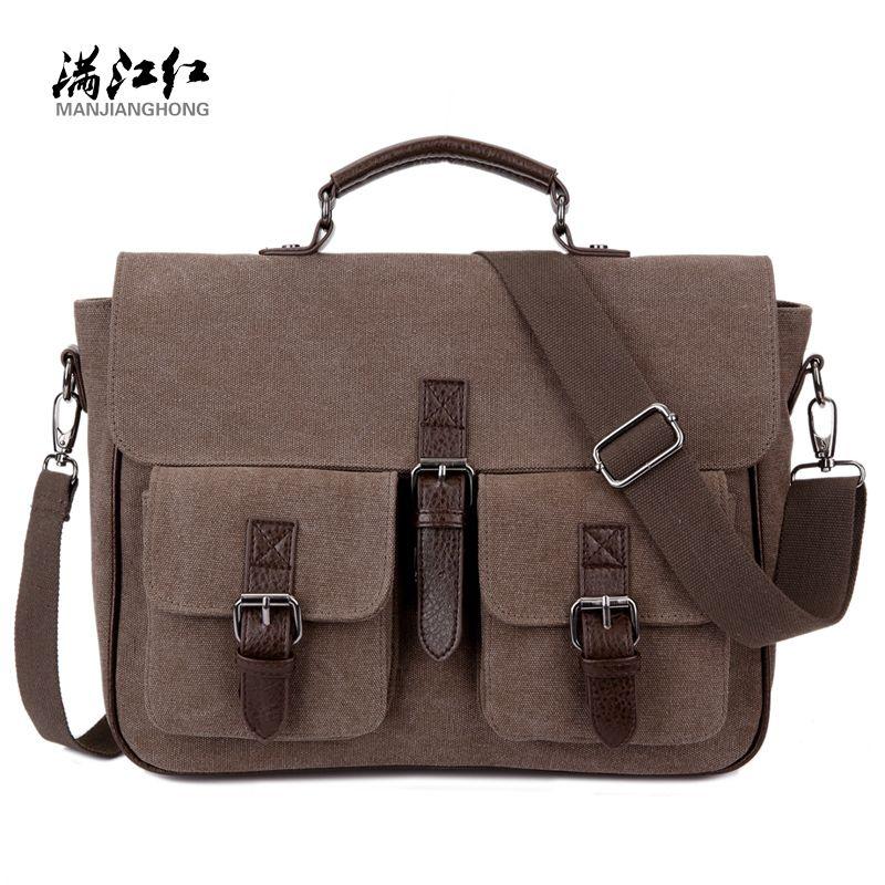 Office Man Briefcase Bag Handsome Business Men Bag Documents Canvas Shoulder Bag Back pack Rucksack 1282