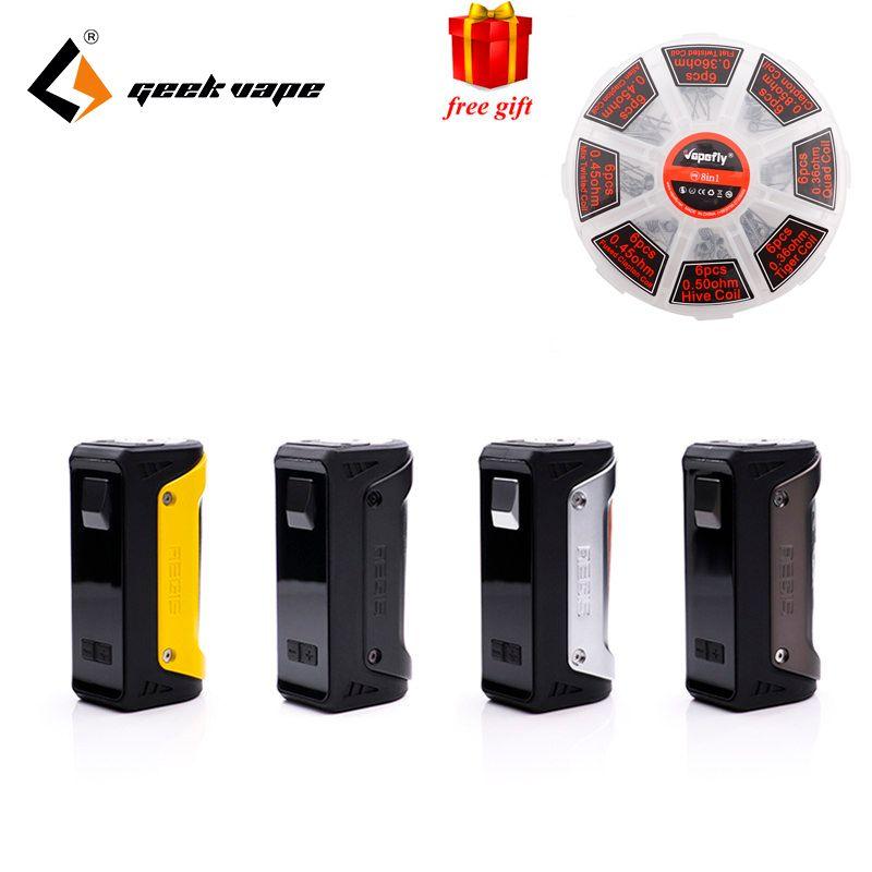Freie geschenk GeekVape AEGIS 100 Watt TC Box Mod W/O batterie 26650 batterie fit 18650 und 26650 wasserdicht staubdicht