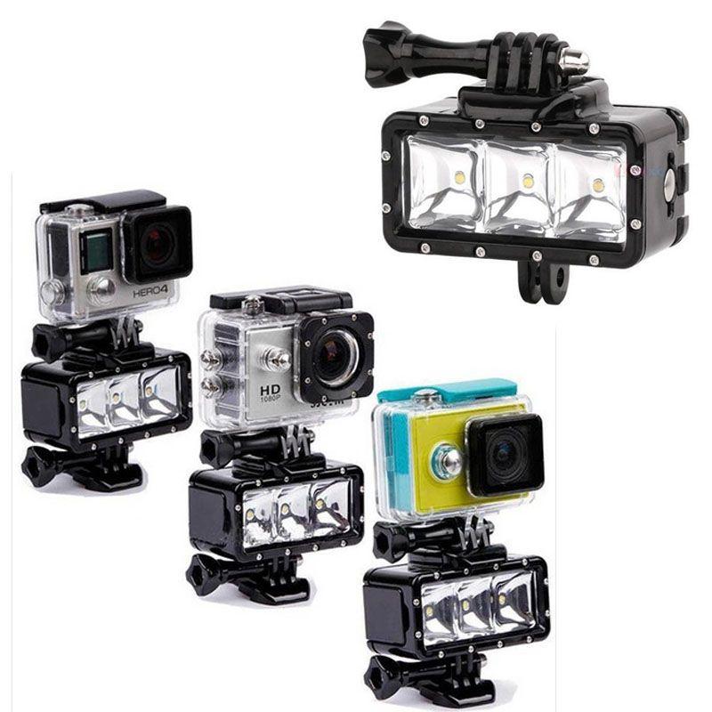 Orsda LED Flash Light Waterproof Underwater Fill Lamp Diving Video Lights Mount For GoPro SJCAM SJ4000 H9 H9R xiaomi yi OR007