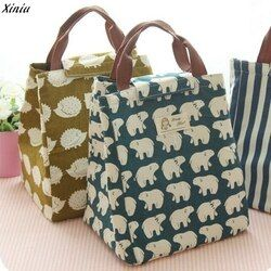 Xiniu 2018 impermeable almuerzo bolsa para las mujeres niños Men Cooler Lunch Box Bag Tote bolsa de almuerzo Paquete de aislamiento portátil