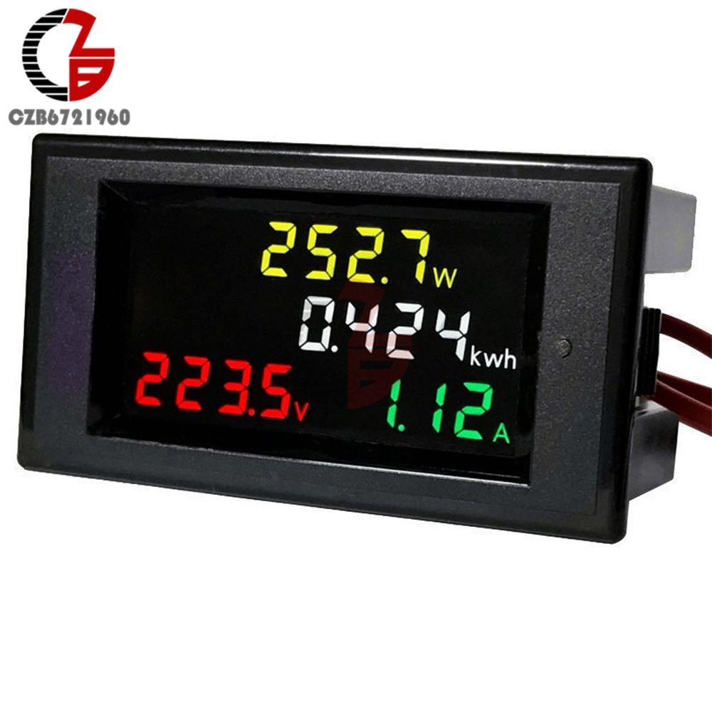Digital AC Voltage Meters 100A 200~450V 380V electric Power Energy Voltmeter Ammeter watt Amps <font><b>Volt</b></font> voltage meter