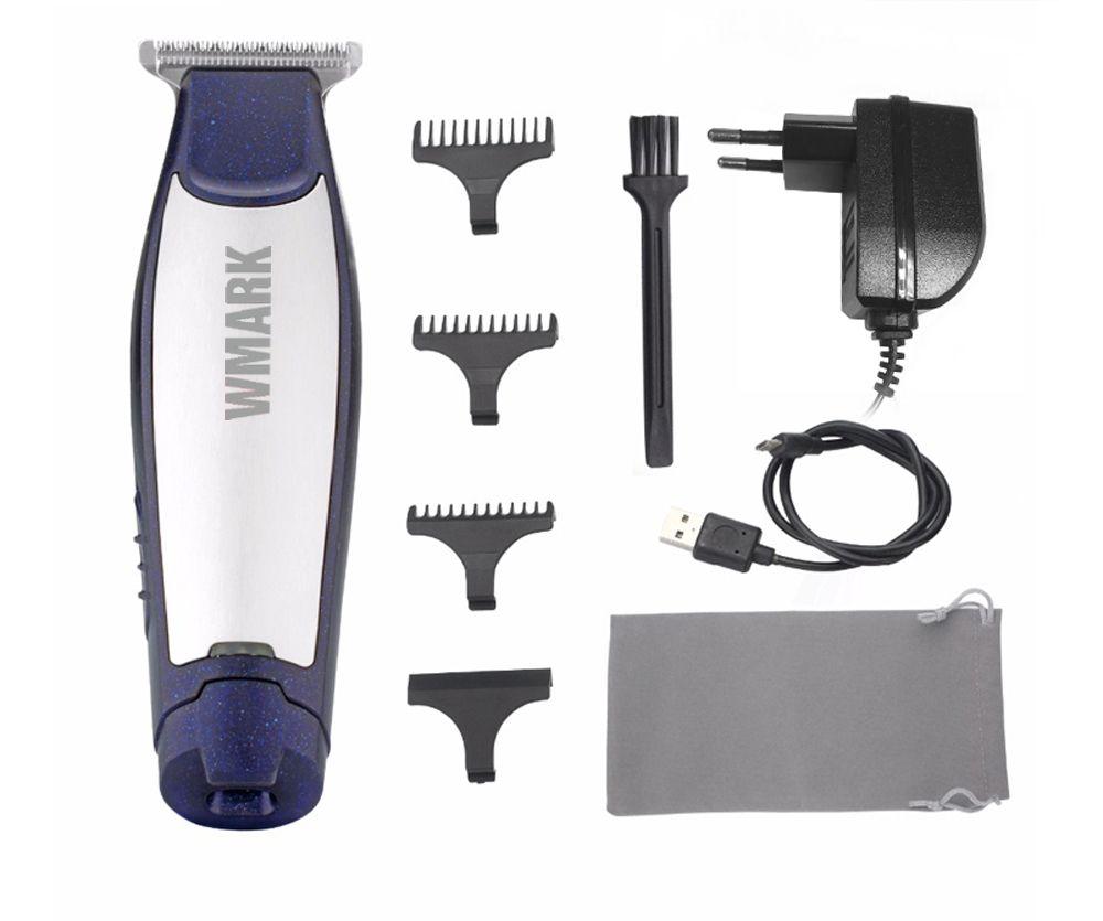 Wmark ng-999 мини Перезаряжаемые машинка для стрижки волос с Руководство расчески узор дизайн триммер