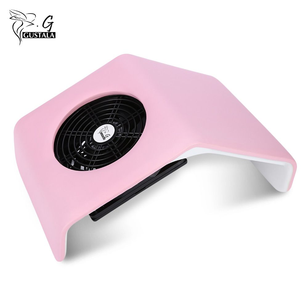 Gustala 220V/110V Nail Fan Acrylic UV Gel Dryer Machine Nail Dust <font><b>Collector</b></font> Art Salon Suction Dust <font><b>Collector</b></font> Vacuum 30W Cleaner