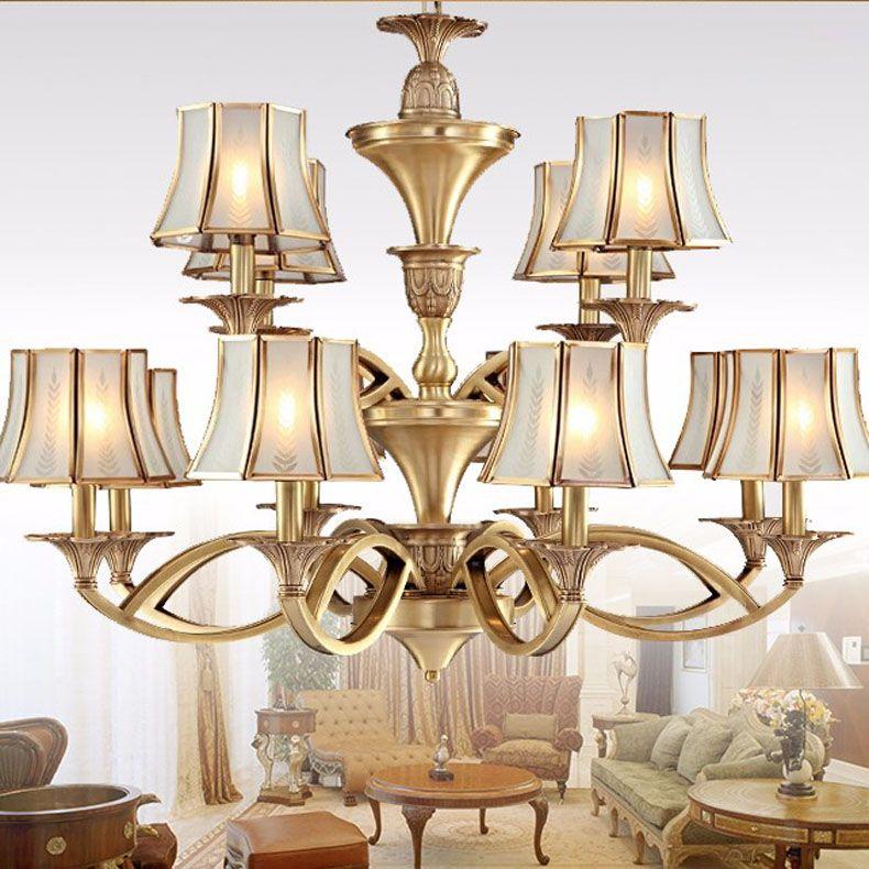 Copper Chandeliers Lighting Luxury Home Lighting Fixture Abajour Lustre Enfant Creative Modo Vintage Hanging Lamp Copper lamps
