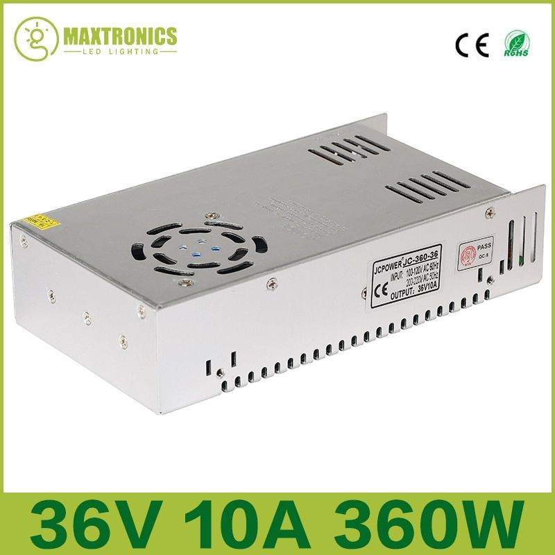 Best price 36V 10A 360W Universal Regulated Switching Power Supply for CCTV Led Radio Free shipping