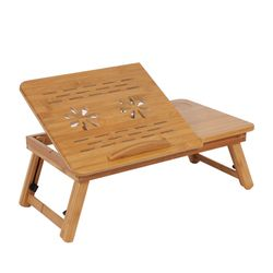 1 Pc Réglable Table D'ordinateur Portable En Bambou Plateau Dortoir Canapé Lit Tour Bureau Portable Livre Table Ordinateur de Bureau