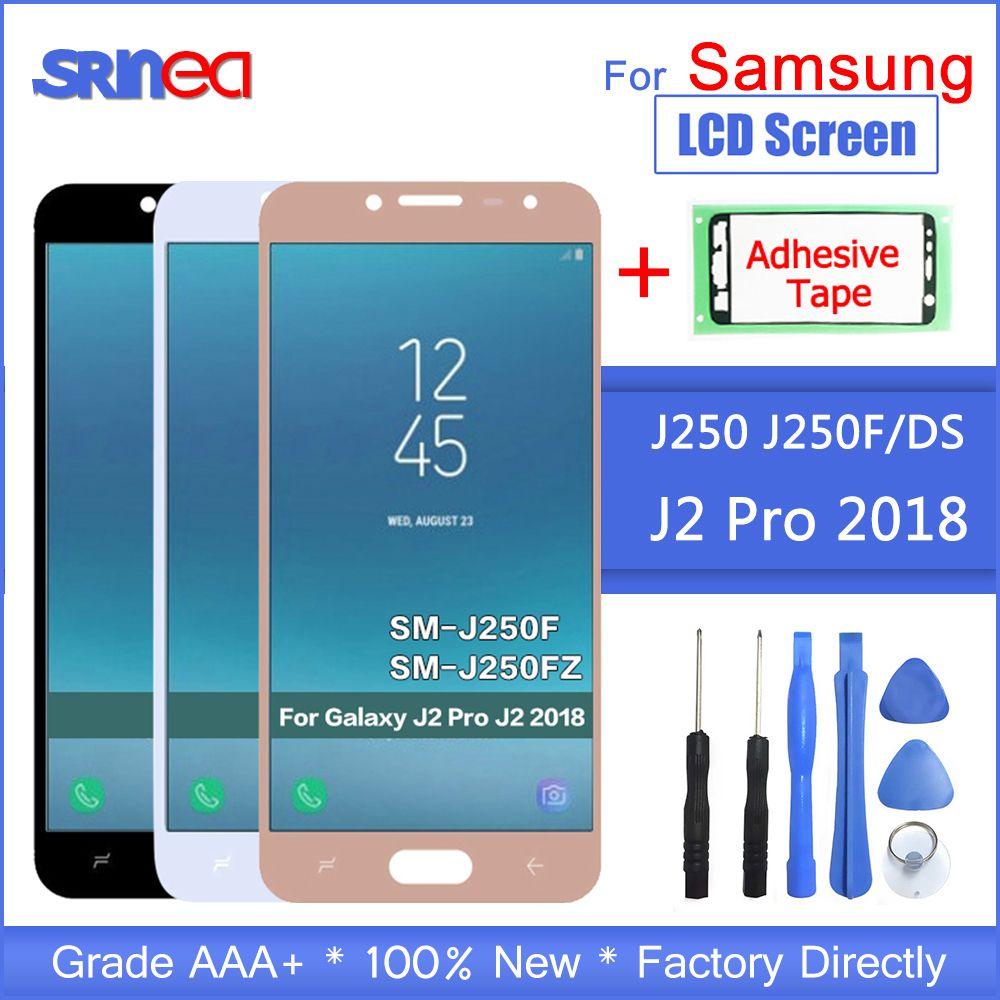 Für Samsung Galaxy J2 pro 2018 J250 J250F LCD Display Und Touch Screen Digitizer Montage Einstellen Helligkeit + Klebeband + werkzeuge