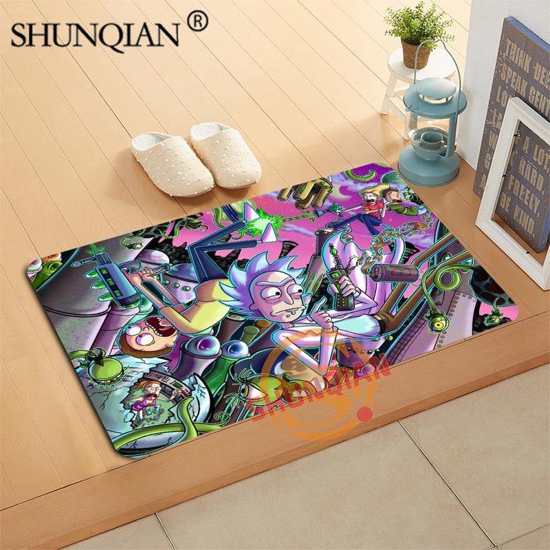 Rick and Morty Doormat Custom Your Mats Print slip-resistant Door Mat Floor Bedroom Living Room Rugs 40x60cm 50x80cm