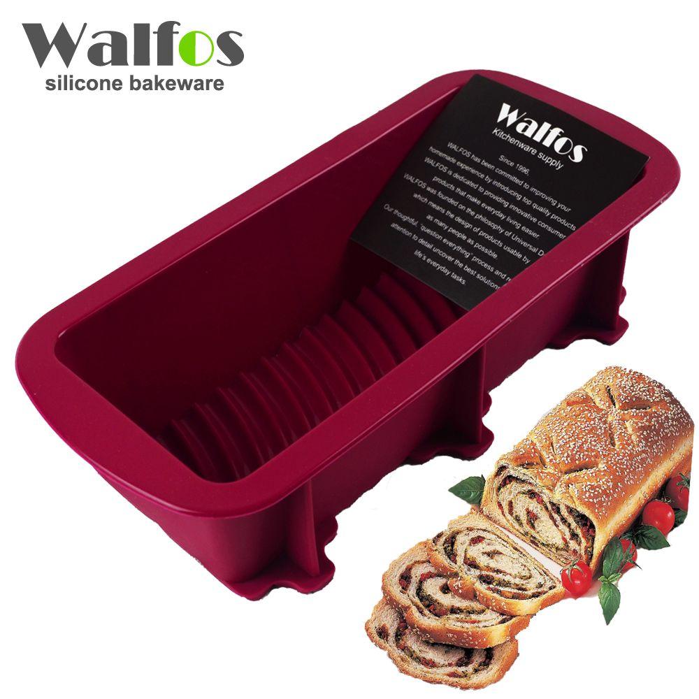 WALFOS 1 pièce moule à pain fabricant cuisson silicone gâteau pan-grande cuisson vaisselle toast français pain Pan-grand Silicone savon moule à pain Pan