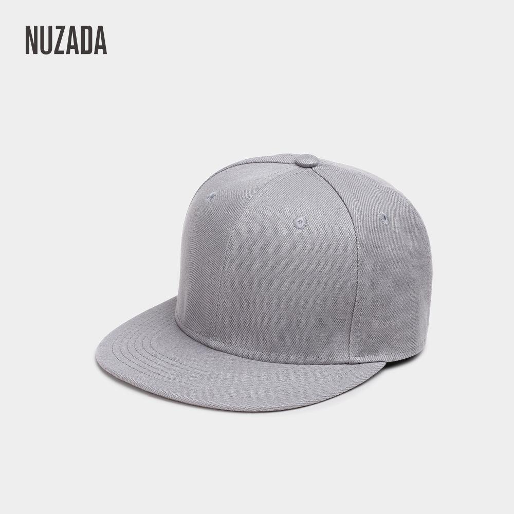 Marque NUZADA Hip Hop Chapeaux Hommes Femmes Casquettes de Baseball Snapback Solide Couleurs Coton Os Style Européen Classique De Mode Tendance