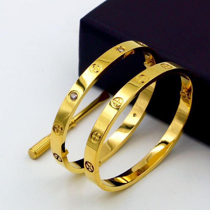 Bracelets de luxe en titane de conception classique avec Bracelets avec tournevis