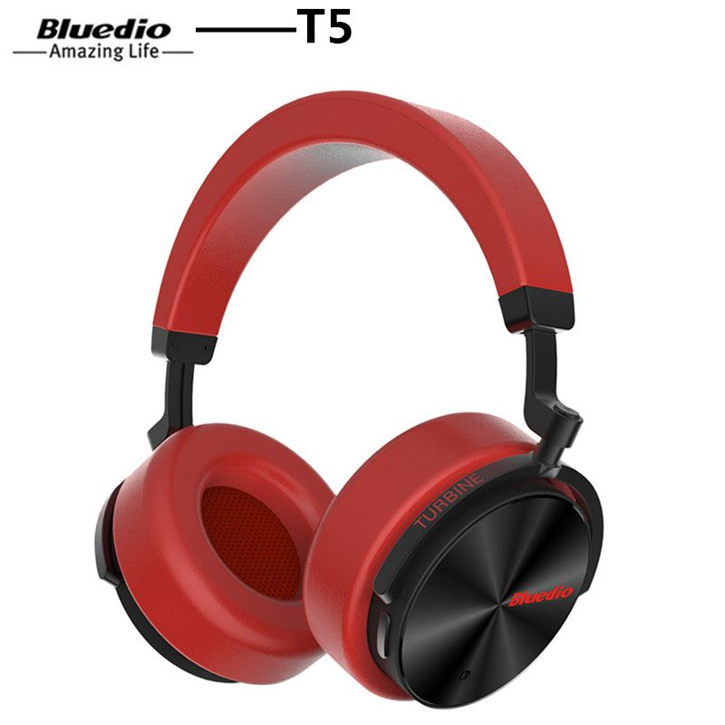 Bluedio T5 Headphone Active Noise Cancelling Wireless Bluetooth Headphones Portable Headset With Microphone For Phones And Music