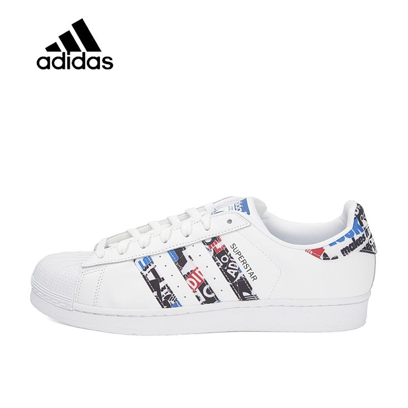 Original New Arrival Official Adidas Clover SUPERSTAR Men and Women Skateboard Shoes Classic breathable shoes outdoor anti-slip
