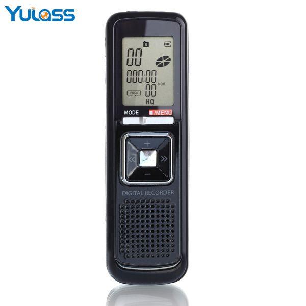 Yulass nouveau produit de 8 GB enregistreur vocal numérique stylo Portable deux canaux enregistreur stéréo Support enregistrement téléphonique en ligne