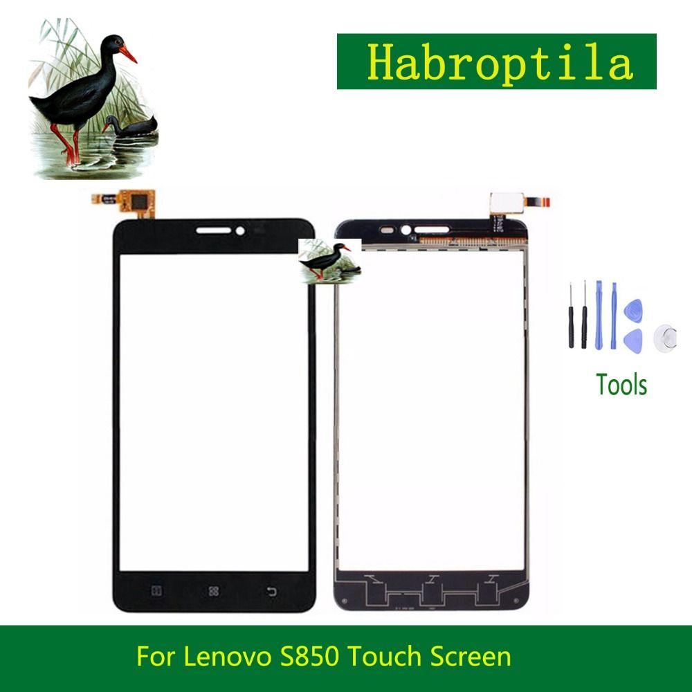 High Quality 5.0 For Lenovo S850 Touch Screen Digitizer Sensor Front Glass Lens Panel Black White