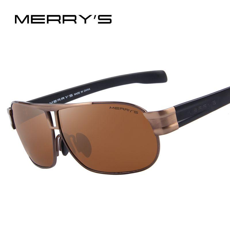 Merry's Для мужчин Классический бренд Солнцезащитные очки для женщин Роскошные Алюминий поляризационные Солнцезащитные очки для женщин EMI защ...