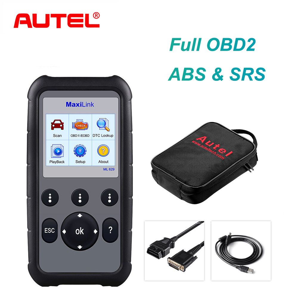 Autel ML629 OBD2 Scanner Auto Diagnose-Tool Code Reader + ABS/SRS Auto Werkzeug, schaltet sich Motor Licht (MIL) und ABS/SRS