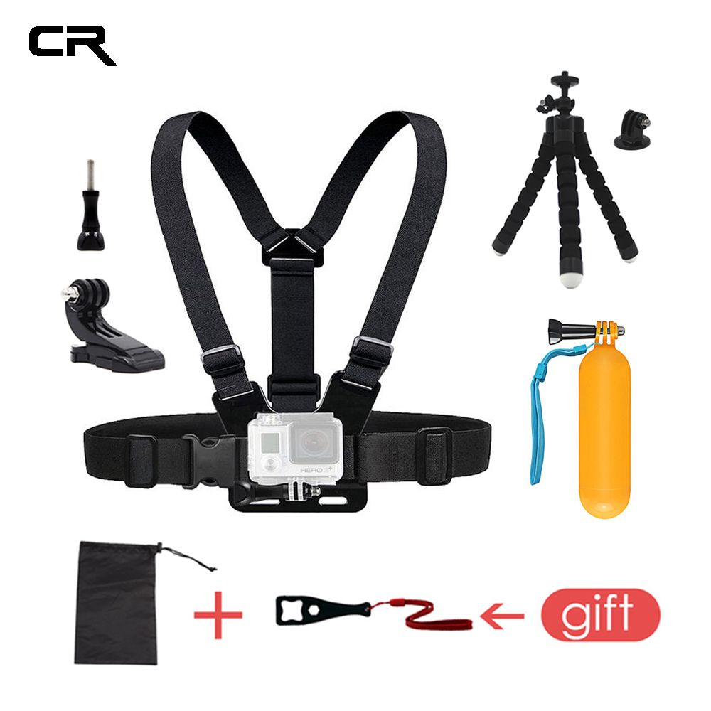 Chest Mount Belt For Gopro Hero 6 5 Accessories Chest Strap For Go Pro SJCAM Tripod For Eken H9 For Xiaomi Yi 4K Action Camera