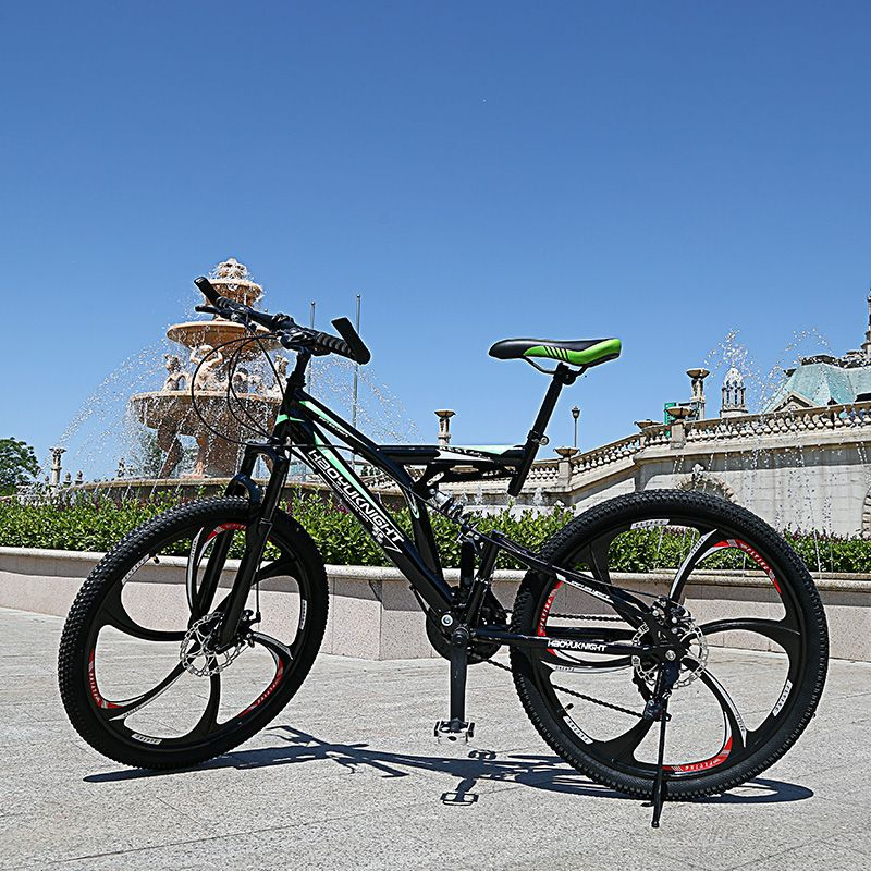 2017 the latest road bike two disc brakes 26 inch 21 variable speed bike male and female students mountain bike Russian shipping
