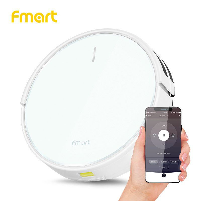 Fmart FM-R570 Robot Vacuum Cleaner with Wifi App Control Planned Cleaning 1500pa Power Big Suction Vacuum Cleaner