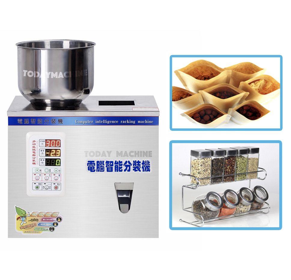 0-500g small tea powder packing machine, powder filler, scale herb filling weighing seed packing machine